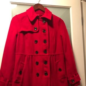 Land's End red winter coat